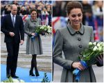 Catherine, Duchess of Cambridge In Catherine Walker  @  Leicester City Visit