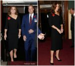 Catherine, Duchess of Cambridge In Roland Mouret @ Remembrance Festival