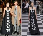 Hannah Redmayne In Christian Dior Haute Couture & Eddie Redmayne In Alexander McQueen  @ 'Fantastic Beasts: The Crimes Of Grindelwald' World Premiere