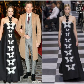 hannah-redmayne-in-chrisyian-dior-haute-couture-eddie-redmayne-in-alexander-mcqueen-fantastic-beats-the-crimes-of-grindelwald-world-premiere