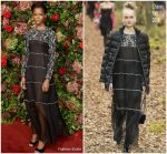Letitia Wright In Chanel  @  2018 Evening Standard Theatre Awards