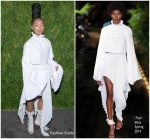 Logan Browning in Pyer Moss @  2018  CFDA/Vogue Fashion Fund Awards