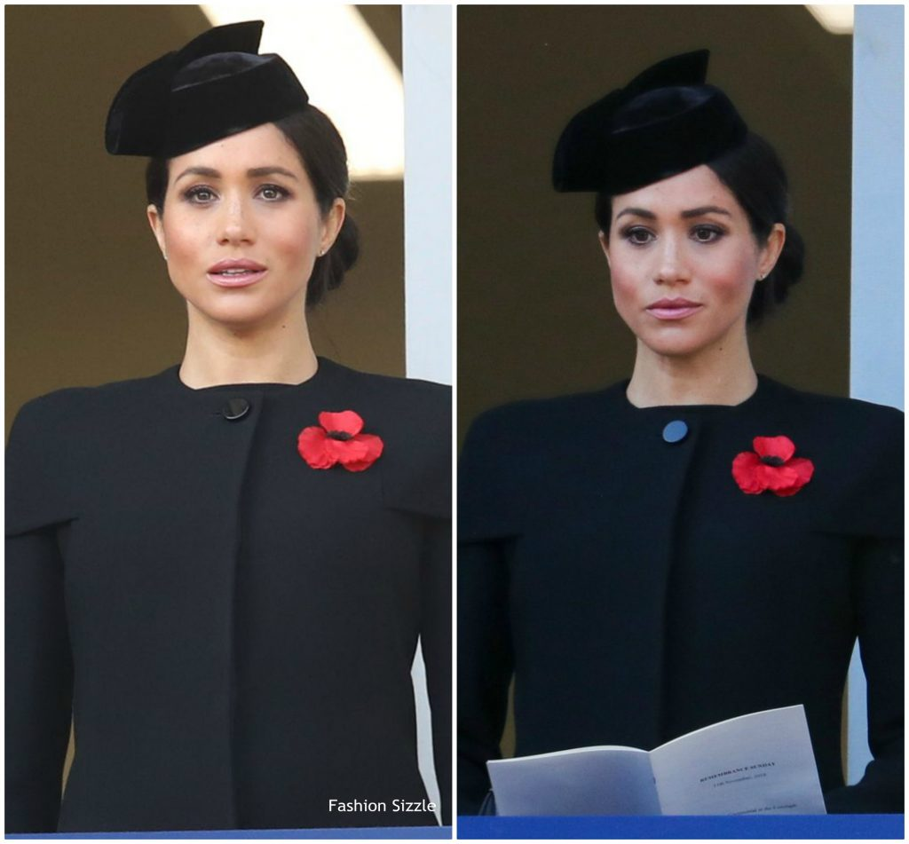 Meghan, Duchess of Sussex In Givenchy  @ Remembrance Sunday