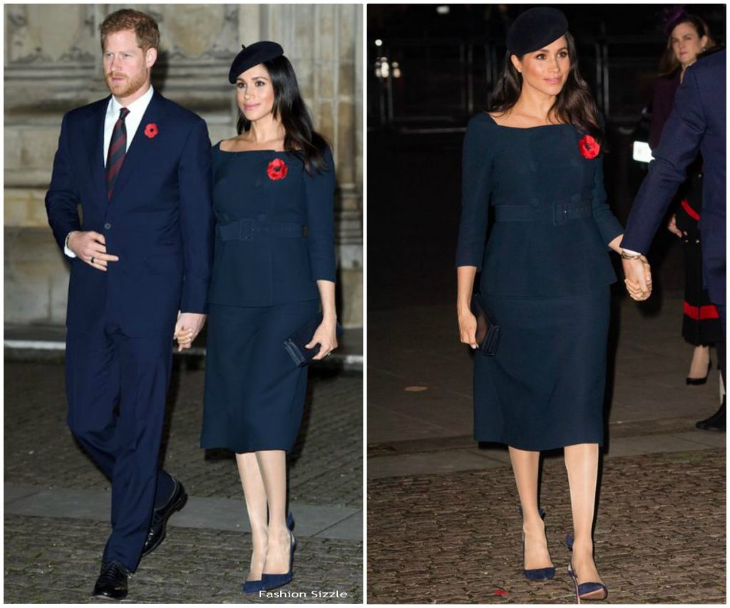 Meghan, Duchess of Sussex In Prada  @ Service At Westminster Abbey