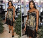 Naomi Campbell in Burberry @ 'Close Your Eyes and Think of Christmas' New York Celebration