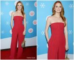 Sarah Drew In Halston  @ Lifetime Christmas Movies 2018 Event