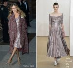 Sarah Jessica Parker In Emila Wickstead  @ The Late Show With Stephen Colbert