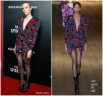 Sylvia Hoeks in Saint Laurent @ 'The Girl in the Spider's Web' New York Premiere
