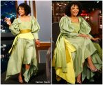 Tessa Thompson in Christopher John Rogers @ 'Jimmy Kimmel Live'