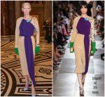 Tilda Swinton In Schiaparelli Haute Couture  @ Wes Anderson's Exhibition Opening