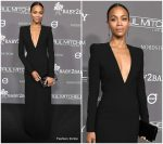 Zoe Saldana  In Saint Laurent @ 2018 Baby2Baby Gala
