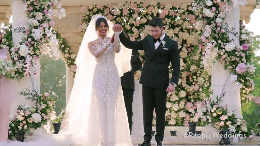 Priyanka Chopra Marries Nick Jonas Wearing Ralph Lauren - Fashionsizzle