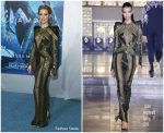 Amber Heard In Julien Macdonald  @ 'Aquaman' LA Premiere