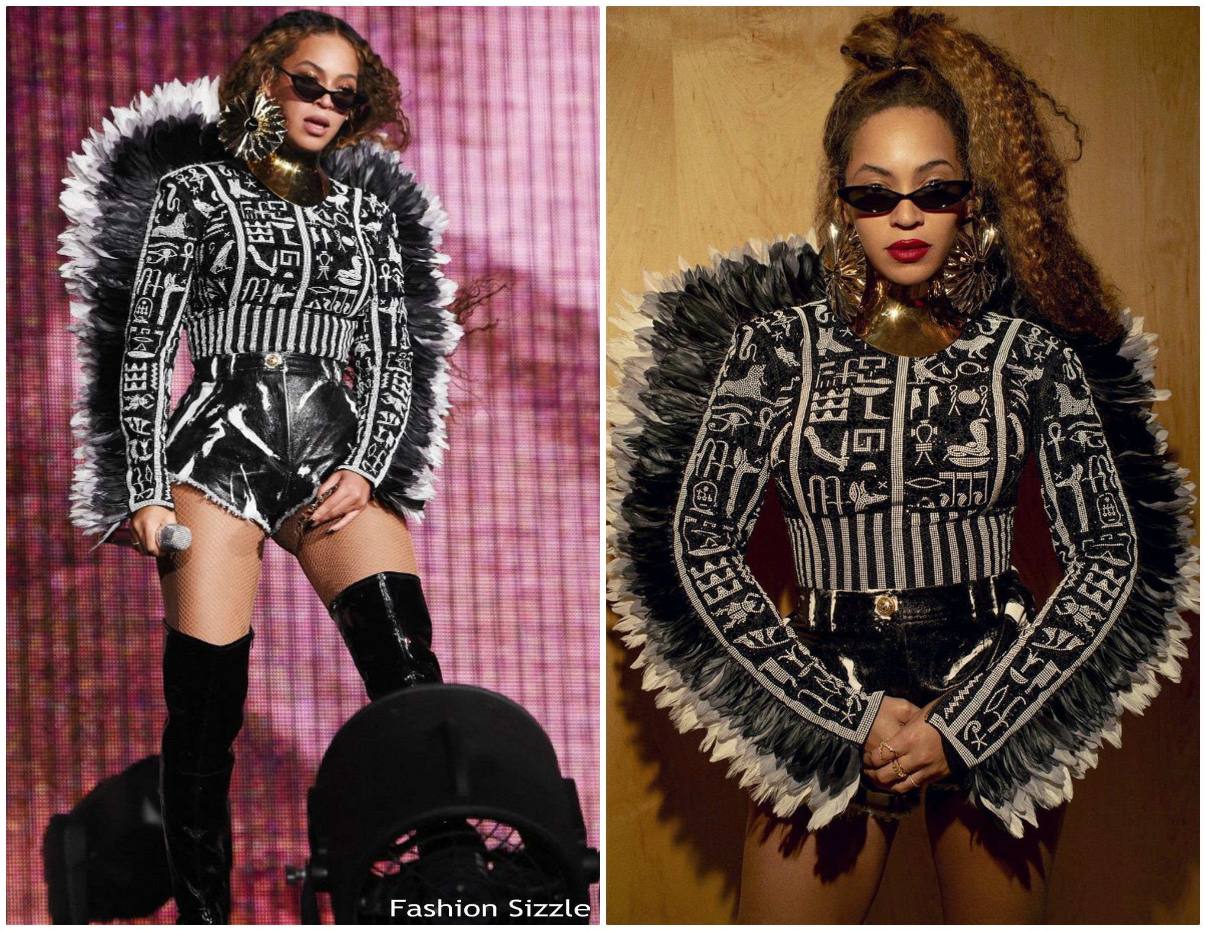 b2d10f19 Beyonce Knowles In Balmain @ Global Citizen Festival: Mandela 100 ...