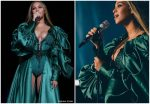 Beyonce Knowles In Emerald Green Gown  @  Global Citizen Festival: Mandela 100
