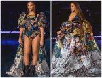 Beyonce Knowles In Mary Katrantzou @  Global Citizen Festival: Mandela 100