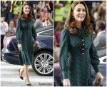 Catherine, Duchess of Cambridge In L.K. Bennett @ Evelina London Children's Hospital Visit