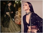 Deepika Padukone In Sabyasachi lehenga @  Priyanka Chopra  and Nick Jonas' Bollywood reception