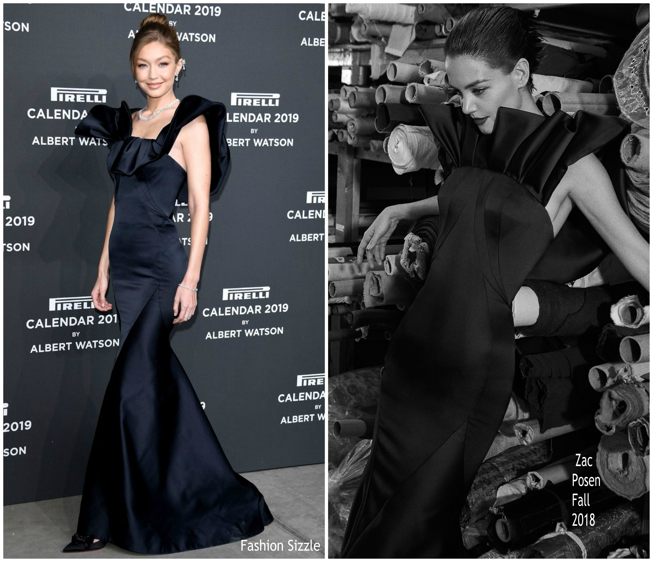 gigi-hadid-in-zac-posen-2019-pirelli-calendar-launch-party