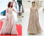 Isabelle Huppert In Christian Dior Couture @ 1st Hainan International Film Festival Opening Ceremony