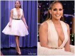 Jennifer Lopez In Saiid Kobeisy  @ The Tonight Show Starring Jimmy Fallon