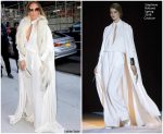 Jennifer Lopez in Stephane Rolland Couture  @ Watch What Happens Live