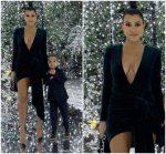 Kourtney Kardashian In Alexander  Vauthier @ Kardashians Christmas Party  2018