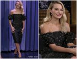 Margot Robbie In Brock Collection @  The Tonight Show Starring Jimmy Fallon
