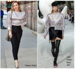 Miley Cyrus In Louis Vuitton @  The Elvis Duran Z100 Morning Show