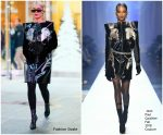 Rita Ora In Jean Paul Gaultier Couture -Out In New York
