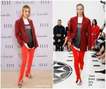 Rosie Huntington Whiteley In Victoria Beckham  @ ELLE Weekender