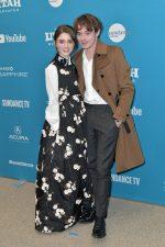 Natalia Dyer (in Moncler 4 Simone Rocha) and Charlie Heaton (in Dior Homme) @ 'Velvet Buzzsaw' Sundance Film Festival Premiere