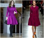 Catherine, Duchess of Cambridge In Oscar de la Renta @ Royal Opera House Visit