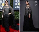 Debra Messing In Pamella Roland  @ 2019 Golden Globe Awards