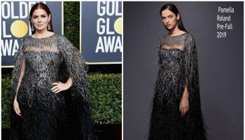 debra-messing-in-pamella-roland-2019-golden-globe-awards