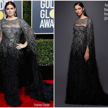 debra-messing-in-pamella-roland-2019-golden-globe-awards