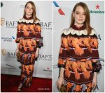 Emma Stone In Fendi  @ BAFTA Los Angeles Tea Party