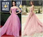 Emmy Rossum In Monique Lhuillier  @  2019 Golden Globe Awards