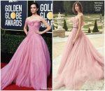 Emmy Rossum In Monique Lhuillier  @  2019 Golden Globe Awards