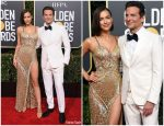 Irina Shayk In Atelier Versace & Bradley Cooper In Gucci  @ 2019 Golden Globe Awards