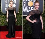 Jessica Chastain In Burberry  @ 2019 Golden Globe Awards