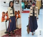 Kiki Layne In Gucci @ 'If Beale Street Could Talk' LA Screening