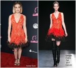 Lucy Hale In Georges Chakra CCouture @ 'The Unicorn' LA Premiere