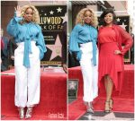 Mary J Blige @ Taraji P. Henson Honored With Star On The Hollywood Walk Of Fame