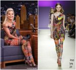 Rita Ora In Versace @ The Tonight Show Starring Jimmy Fallon