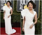 Sandra Oh In Atelier Versace @ 2019 Golden Globe Awards