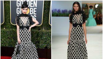 sofia-carson-in-giambattista-valli-haute-couture-2019-golden-globe-awards