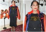 Tracee Ellis Ross In Dapper Dan x Gucci @ 'If Beale Street Could Talk' LA Screening