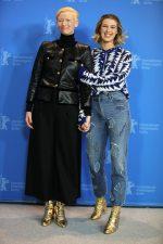 Tilda Swinton and Honor Swinton Byrne, both in Chanel @ 'The Souvenir' Berlin International Film Festival Photocall