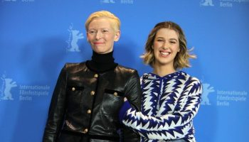 tilda-swinton-and-honor-swinton-byrne-both-in-chanel-the-souvenir-berlin-international-film-festival-photocall
